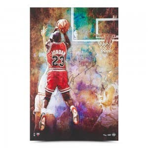 """Michael Jordan Autographed """"The Shot"""" 24 x 36"""