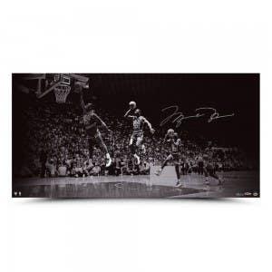 "Michael Jordan Autographed ""We Have Liftoff"" 36x18"