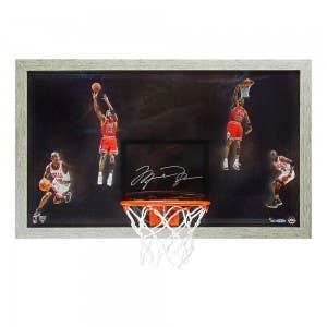 """Michael Jordan Autographed """"Winning"""" Backboard"""