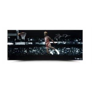 Michael Jordan Autographed 1988 Slam Dunk Contest Panoramic Photo