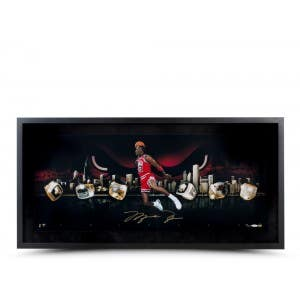Michael Jordan Autographed City of Rings Photo