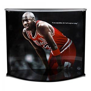 Michael Jordan Failure Quote & Memorabilia Display Case