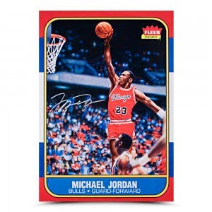 Michael Jordan Rookie Card Original Fleer Card Art