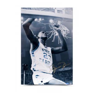 Michael Jordan Cutting Down The Net 16x24
