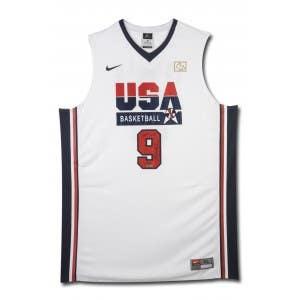 Michael Jordan Signed & Inscribed Nike 1992 Olympic Basketball Jersey