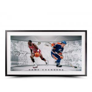 Michael Jordan & Wayne Gretzky Signed 'Game Changers' Photo