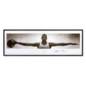"Michael Jordan ""Wings"" Autographed Poster Framed"