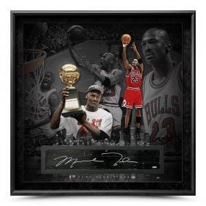 "Michael Jordan Autographed NBA Game-Used Floor ""'98"" 42x42"