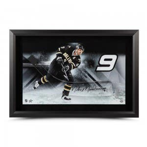 Mike Modano Autographed Stick Blade with Dallas Stars Picture – Framed