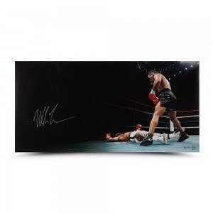 "Mike Tyson Autographed ""Knockout"" 36 x 18"