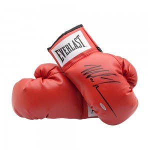 Mike Tyson Autographed Red Everlast Boxing Gloves
