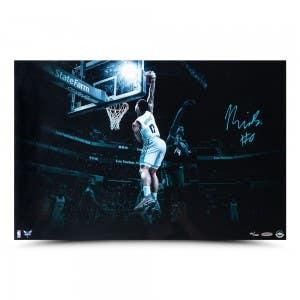 """Miles Bridges Autographed """"Baseline Jam"""" 24 x 16"""