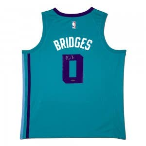 Miles Bridges Autographed Charlotte Hornets Teal Nike Swingman Jersey