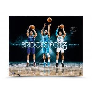 """Miles Bridges Autographed """"For 3"""" 20x16"""
