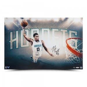 "Miles Bridges Autographed ""Force"" 24 x 16"