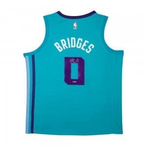 Miles Bridges Autographed Charlotte Hornets Swingman Nike Sponsor Logo Icon Edition Jersey