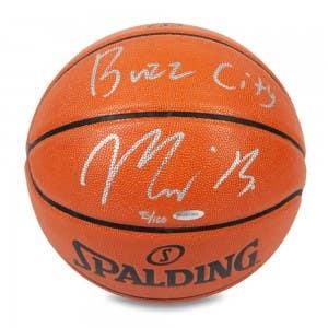 "Miles Bridges Autographed & Inscribed ""Buzz City"" Indoor/Outdoor Spalding Basketball"