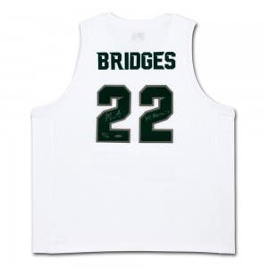 "Miles Bridges Autographed & Inscribed ""All-America '18"" Michigan State White Retro Brand Jersey"