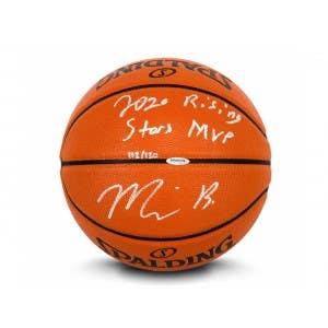"Miles Bridges Autographed & Inscribed ""2020 Rising Stars MVP"" Indoor/Outdoor Spalding Basketball"