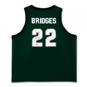 Miles Bridges Autographed Michigan State Green Retro Brand Jersey