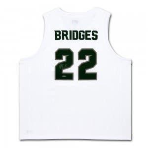 Miles Bridges Autographed Michigan State White Retro Brand Jersey