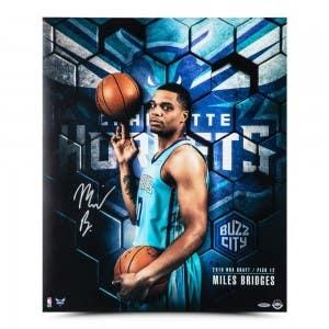 """Miles Bridges Autographed """"Next"""" 20 x 24"""