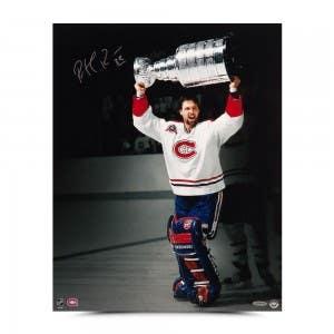 """Patrick Roy Autographed """"1992-93 Stanley Cup Celebration"""" 16 x 20"""