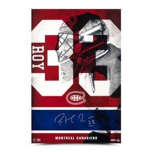 """Patrick Roy Autographed """"33"""" 16 x 24"""