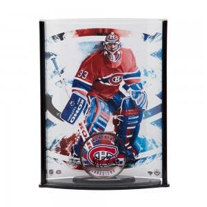 Patrick Roy Autographed Acrylic Montreal Canadiens Puck & Curve Display