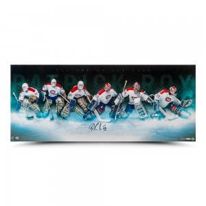 """Patrick Roy Autographed """"Art of the Save"""" 36"""" x 15"""""""