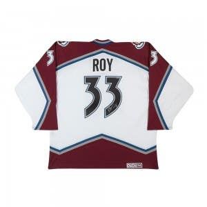 Patrick Roy Autographed Authentic CCM Heroes of Hockey White Colorado Avalanche Jersey