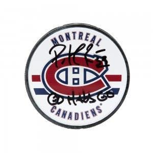 Patrick Roy Autographed & Inscribed Montreal Canadiens Acrylic Puck