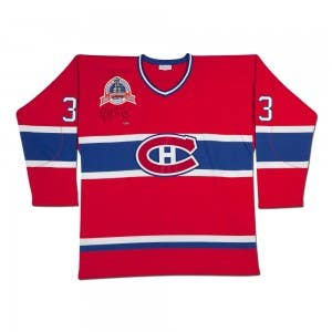 Patrick Roy Autographed Red Mitchell & Ness Canadiens Jersey