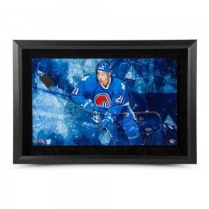 Peter Forsberg Autographed Quebec Stick Blade Framed 25 x 17