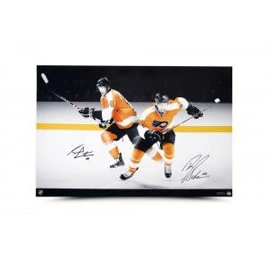 Brayden Schenn Sean Couturier Signed Flyers Picture