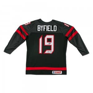 Quinton Byfield Autographed & Inscribed Team Canada Black Nike Jersey