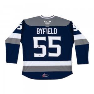 Quinton Byfield Autographed CCM Sudbury Wolves Blue Jersey