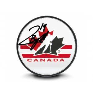 Quinton Byfield Autographed Team Canada Acrylic Hockey Puck