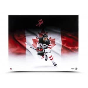 "Quinton Byfield Autographed ""The Great White North"" 20x16 Image"