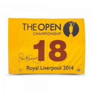 Rory McIlroy Autographed 2014 Open Championship Pin Flag