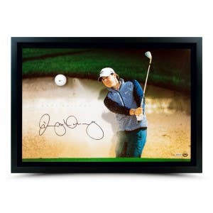 Rory McIlroy Autographed Breaking Through with Range Driven Ball