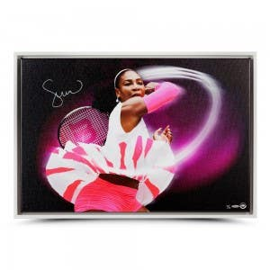 "Serena Williams Autographed Framed ""Pioneer"" Canvas 30 x 20"