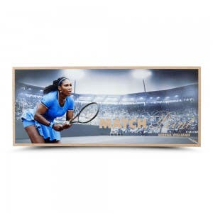 "Serena Williams ""Match Point"" Maple Wood Print 26x11"