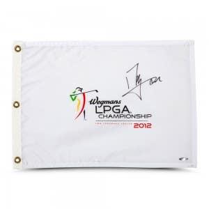 Shanshan Feng Autographed 2012 LPGA Championship Pin Flag