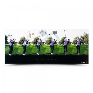 "Shanshan Feng Autographed ""Art of the Swing"" 36 x 15"
