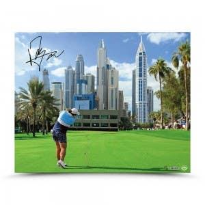 "Shanshan Feng Autographed ""Dubai Drive"" 20 x 16"