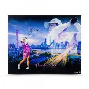 "Shanshan Feng Autographed ""Guangzhou City Skyline"" 30 x 24"