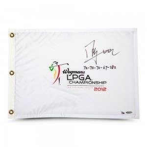 Shanshan Feng Autographed & Inscribed 2012 LPGA Championship Pin Flag