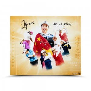 "Shanshan Feng Autographed & Inscribed ""Journey to No. 1"" 24 x 20"