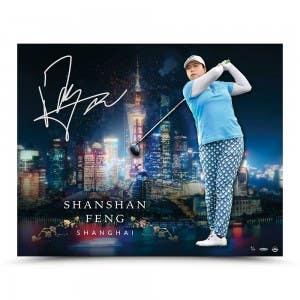 "Shanshan Feng Autographed ""Shanghai City Skyline"" 30 x 24"